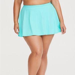 Torrid Mint Green Skater High Waist Swim Skirt 2X